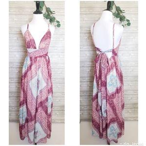 4 for $25 flowey printed boho maxi dress